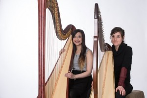 Aimee Harris and Leah Faibisoff appeared as harpists for a Roman Empire scene in Hollywood movie Pompeii.