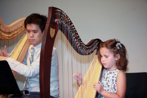 Ashtin Hennessy, 6, gave her successful debut with her teacher.