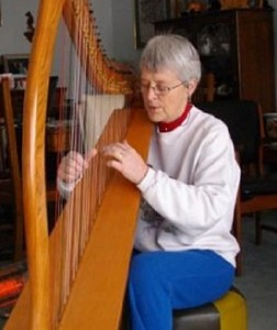 Margaret, retired, finds playing the harp matches and inspires her Celtic soul.