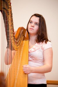 Erica Pulling received Honours for her RCM Grade 6 Pedal Harp Exam. She further studied throughout many summers at Gaelic College of Celtic Arts and Crafts in Cape Breton. Performances include church services, private weddings and events, and those with Harp Sinfonia.