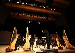 Harp Sinfonia performed with Philomusica Symphony Orchestra at Glen Gould Studio (2010)