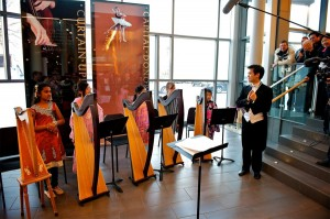 Harp Sinfonia Junior performed in multi-cultural costumes at Harps on the Hill Festival 2012.