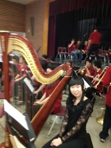 Kathleen Miao was featured as a special guest with her school's orchestra.