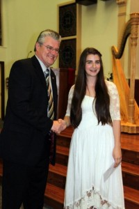 "Tabi Savic received ""Best performance overall for the Joe Demeza Prize"". She was then promoted to the provincial-level Ontario Music Festival 2012 where she won First Prize in Pedal Harp. She also received 89% First Class Honours for her Grade 6 RCM Pedal Harp Exam."