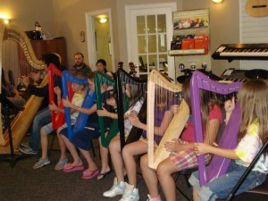 Harp Ensemble Concert (after a 5-day training)