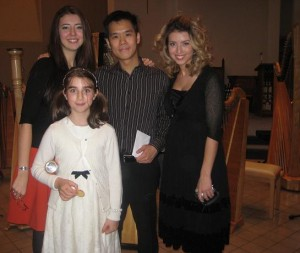 The Savic sisters after concert with their teacher