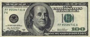 Scientist Benjamin Franklin (depicted on US100 dollar bill) enjoyed his harp hobby.