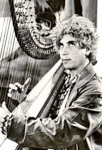 Harpo played the harp in most of the infamous movies by Marx Brothers. Watch excerpts: 1, 2, 3