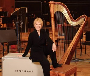 Gayle Levant, Hollywood Studio Harpist.