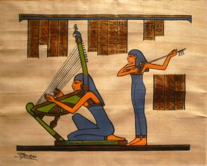 The harp has a history of more than 5000 years, and was often depicted in pyramids and in ancient Egyptian artwork. If mummy returns, there might be one particular instrument he will particularly recognize!