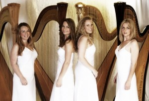 4 Girls 4 Harps, British harp quartet.