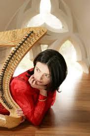 Anne-Marie O'Farrell, Celtic harpist, Ireland.