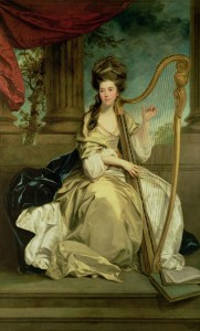 Legendary baronet, Susanna Montgomery, Countess of Eglinton was skilled at the harp. Over the centuries, young ladies of upper class were expected to excel in their music studies as a way to polish their minds. A popular instrument choice was the harp.