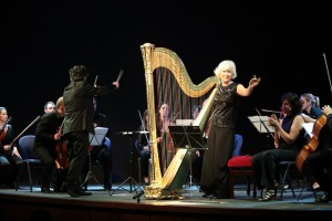 Catherine Michel, legendary French harpist.