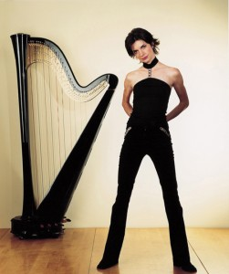 Catrin Finch, international English harpist.