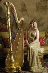 Claire Jones, Royal Harpist to the Queen of England.