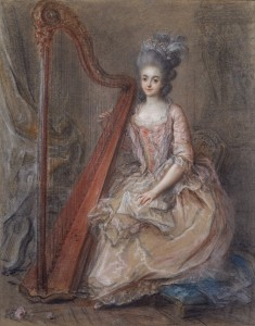 Known for her beauty and sense of style, born at the Spencers family as Princess Diana did, England's Georgiana of Devonshire was a skilled harpist!