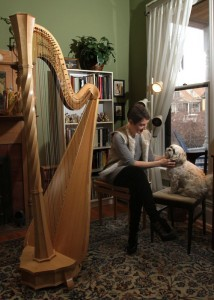 Louise Vickerman, Principal Harpist, Utah Symphony USA.