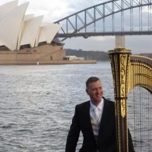 Owen Torr, harpist of Australian Opera and Ballet Orchestra.