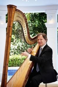 Sebastien Lipman, French-Australian harpist, former Solo Harpist of Berlin Philharmonic Orchestra.