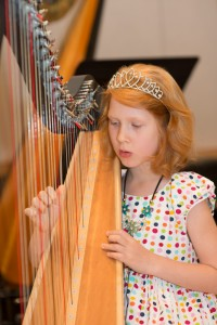 India Frost loves her harp lessons and makes steady progress from week to week. She participated again in the students' Annual Concert this year and enjoyed being part of the Twinkle Twinkle Ensemble.