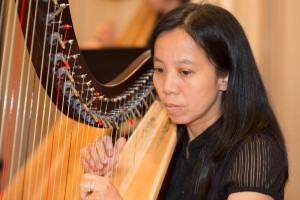 "Man Lan, stay-at-home mum, ""took the plunge"" after a life-long dream to play the harp, and enthusiastically working towards her goal to play the pedal harp!"