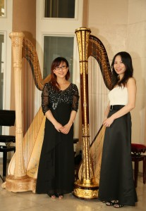 Upon meeting at the studio, a friendship was quickly formed between Vivian and Miranda. They perform as the MV Harp Duo for various charity and public events.