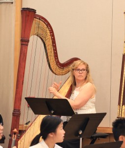 Shelley takes part in Harp Orhcestra in Annual Concert 2016.