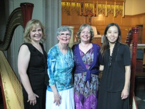 Shelley, Gail, Carol and Man Lan after a successful concert together. (Annual Concert 2014)