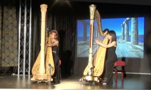 Recent performance of the MV Duo, Miranda and Vivian, was broadcast live on WOW TV for a Charity Show. They are enthusiastic to promote harp music to a broader audience.