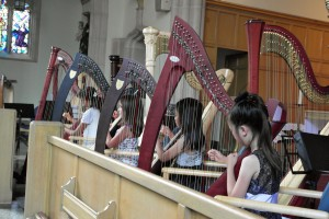 Junior Harp Sinfonia at work.  (2014)