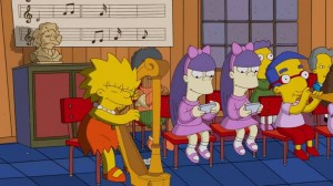 If you look around, you will notice the harp appears in many places! Even Lisa from Simpsons plays it!