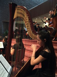 Sunshine was featured as a soloist by the  Halton Mississauga Youth Orchestra and by the orchestras of her school Appleby College. She has been a regular member of the Harp Sinfonia and has collaborated with Philomusica Symphony Orchestra and OCMS Youth Symphony Orchestra.