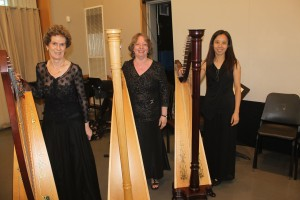 Carol, Carol and Man Lan after Annual Concert 2015 where they participated in the Harp Orchestra.