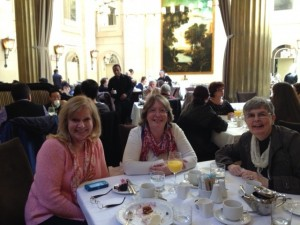 The harp ladies at a sunday brunch celebrating their love for harp! The three often perform as a trio.