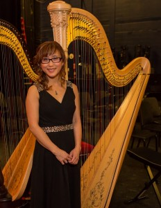 Miranda, dentist, studied piano in childhood, discovered her passion for the harp and has been studying diligently with Andrew Chan since 2013 when she quickly progressed from the smaller sized lever harp to the full size concert pedal harp.