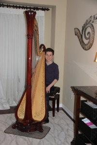 Sebastian Gobbels received First Class Honours for his Grade 6 RCM Exam. Now progressed to the Pedal Harp, he advances his studies by joining the Harp Sinfonia and working towards his Grade 8 Exam.